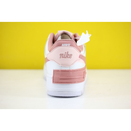 Nike WMNS Air Force 1 Shadow Pink/White Fresh Shoes AF1 Sneakers CJ1641 101 For Sale