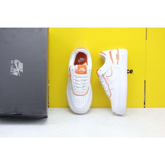 Nike WMNS Air Force 1 Shadow Total Orange White/Summit White-Total Orange Fresh Shoes CI0919 103 Womens Sneakers Free Shipping