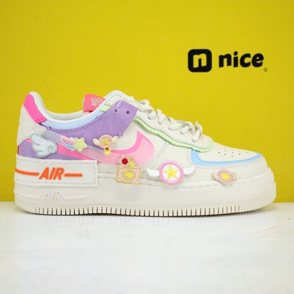 Nike Air Force 1 Shadow White/Pink/Purple Fresh Shoes CU3012-164 AF1 WMNS Sneakers