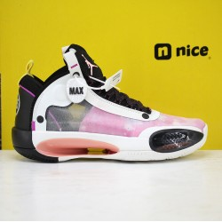 "Nike Air Jordan XXXIV PF ""Paris"" Pink/Black/White Basketball Shoes Mens AJ34 Sneakers CZ7752 601"