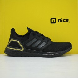 Adidas Ultra Boost 20 Black/Gold Fresh Shoes EG0754 Mens Sneakers