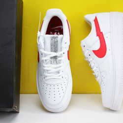 """Nike Air Force 1""""Euro Tour""""Unisex Shoes White Red Sneakers CW7577 100"""