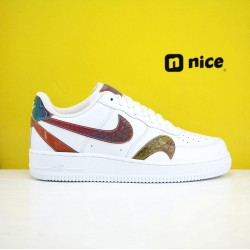 Nike Air Force 1 ′07 LV8Black laser Unisex Shoes White Sneakers CK7214-101