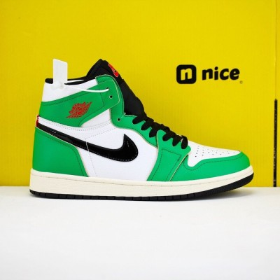 "Nike Air Jordan 1 High OG WMNS"" Lucky Green""Basketball Shoes Green White Black Mens AJ1 Sneakers CD0461 100"