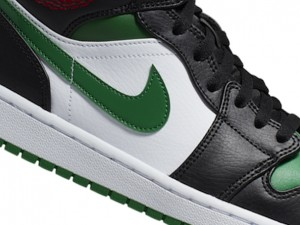 Celtics or black and green toes? This pair of AJ1 Mid trend shoes