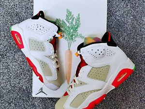 "Air Jordan 6 ""Hare"" White Grey Red CT8529-062 Basketball Shoes"